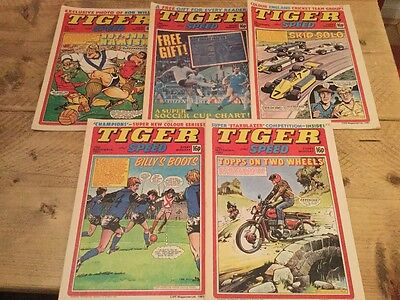 Tiger & Speed Comics 1981 August September  5 copies