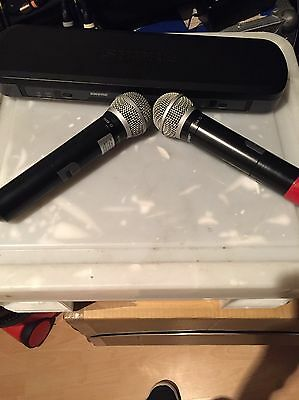 2x PG58 Wireless Mic Microphone With Dual Receiver