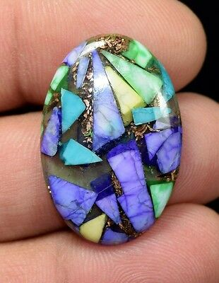 16.10  Cts.  Natural  Colorful  Copper  Howlite  Oval  Cab Loose  Gemstones