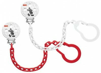 NUK Disney Mickey Mouse Sucker Chain With Clip For Secure Attachment Of The To