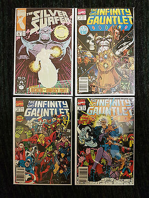 Infinity Gauntlet 1, 3, 6 & Silver Surfer #50 - Thanos & Avengers, 4 issue lot