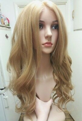 Golden Blonde Human Hair Wig, Lace Front
