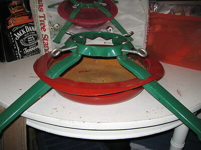 """VTG Christmas Tree Stand, All Steal Construction, 4 legs, 3""""-6 1/2"""" tree base,"""