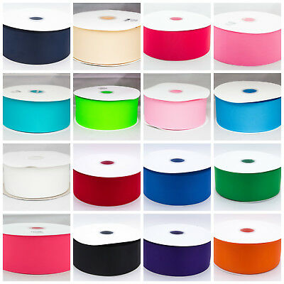 """Solid Grosgrain Ribbon 3 """" 3 inch 75mm Black Red Pink White Green Blue Cream"""
