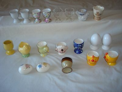 Lot of 16 Various Egg Cups