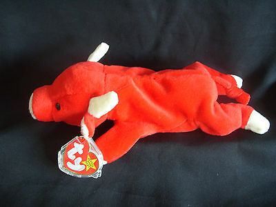Nwt Ty Beanie Baby Snort - The Red Bull