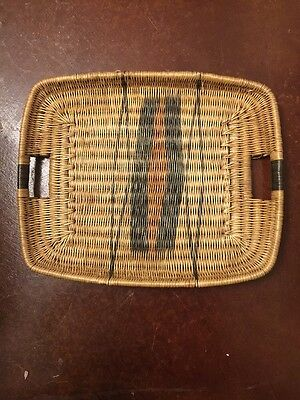 Rare African Tribal Basket Serving Tray Lozi Tribe Zambia