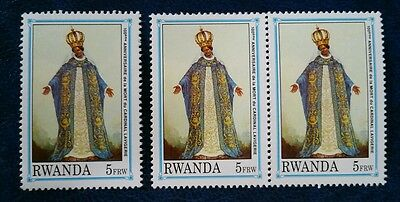 Rwanda stamps 100th anniversary of the death of cardinal Lavigerie set of 3 MNH