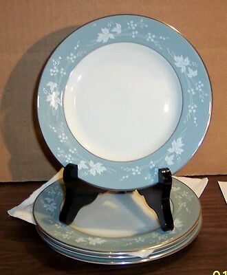 """Lot Of 4 Royal Doulton Translucent China Reflection Bread And Butter Plate 6.25"""""""