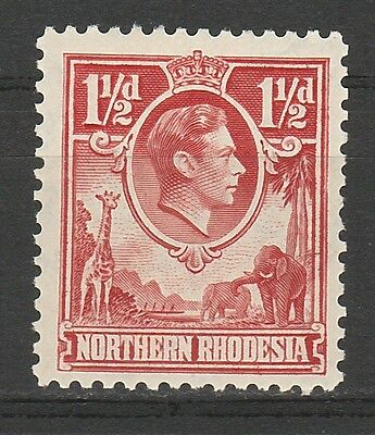 Northern Rhodesia 1938 Kgvi Giraffe And Elephant 11/2D Mnh **