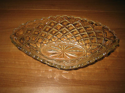 Vintage/Retro Clear Glass Boat Sweet/Fruit Bowl