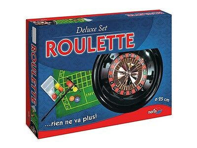 Deluxe Roulette Set with Accessories Brand Noris German Quality 25cm