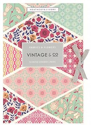 Vintage and Co Fabric and Flowers Scented Drawer Liners (Pack Of 6)