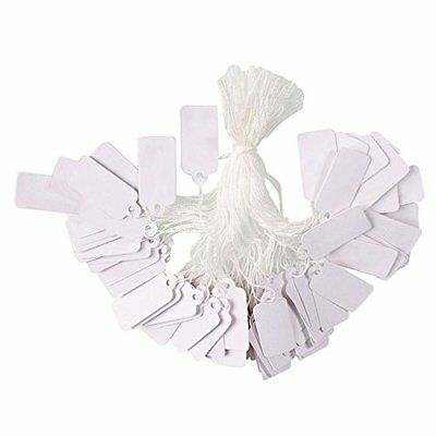 Pandahall 500 Pcs White String Jewelry Price Tags Clothing Display Tag Rectangle