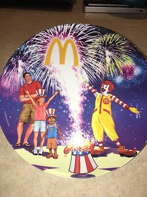 Vintage Mcdonald's Ronald Mcdonald Plate Collectible Fourth Of July