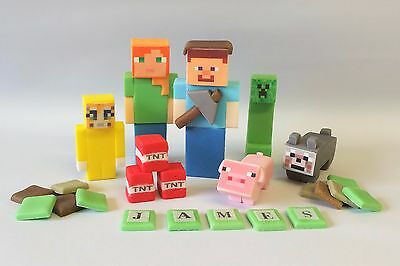 minecraft cake toppers edible decoration personalised birthday unofficial icing