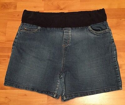 New Additions Maternity Jean Shorts Size Large