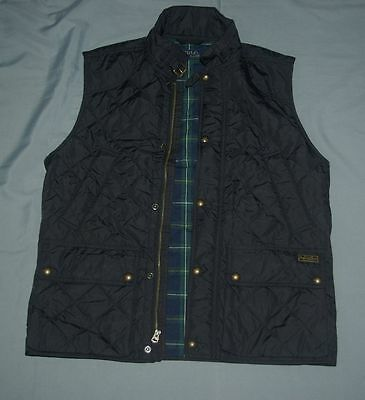 NEW Polo Ralph Lauren Men Barn Quilted Black Vest Jacket Hunting Sz Medium $170