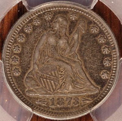 1873 with Arrows Seated Liberty Quarter PCGS XF-45 Cert # 26774227