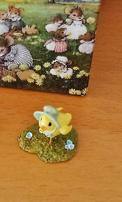 Wee Forest Folk A-1 Chick with Green Bonnet - (Retired) Accessory Mint