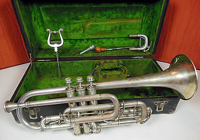 JW YORK & SONS Perfectone Cornet C. 1918 In Original Case. Free Shipping !