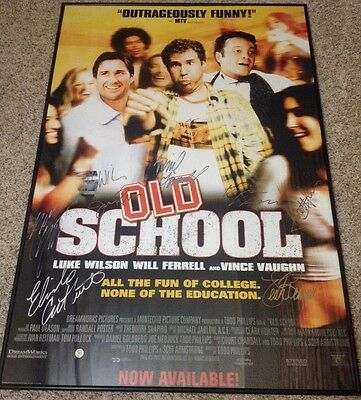 Cast signed by 8 Vaughn, Ferrell, Wilson Old School 27x40 Movie Poster Autograph