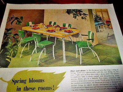 1951 Daystrom Chrome Furniture Advertisement-Dining Set, Porch