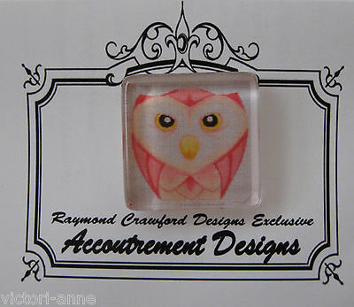 Accoutrement Designs Owl Pink Needle Minder Magnet Mag Friends Raymond Crawford