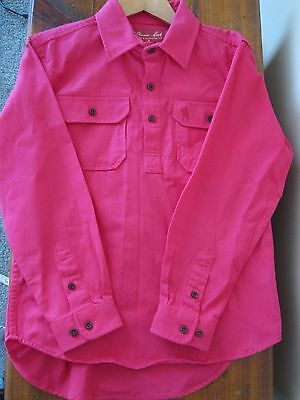 THOMAS COOK  Heavy Cotton Drill Pink Shirt (Childs 8)