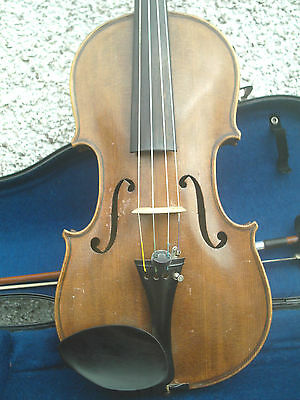 Antique  Vintage Violin With Bow Unsigned