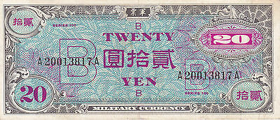 Japan: 20 Yen, P-73, Nd (1945) Allied Occupation Currency Note, Wwii