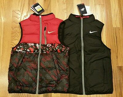Nike Boy's Alliance Graphic Reversible Vest 679827 687 Size Small Msrp $110