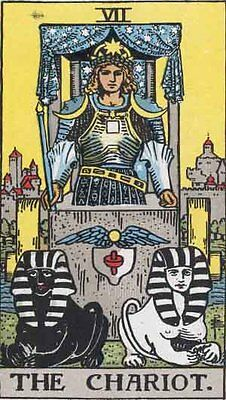 Trumps - 7 The Chariot. INDIVIDUAL CARDS Rider-Waite Tarot (Full Size)