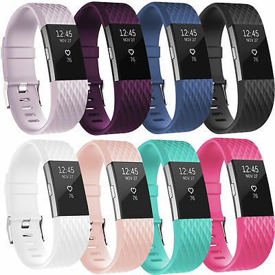 Silicone Replacement Wristband Bracelet Band Strap for Fitbit Charge 2 UK POST!