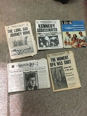 Lot of 5 Vintage Newspapers Magazine Kennedy 1963 1968