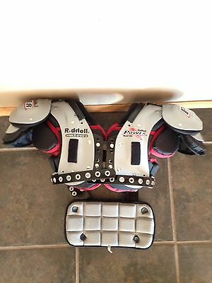 Riddell Power SPX Adult Football Shoulder Pads - RB/DB W/ Back Plate