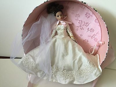 """Forever Yours, Tiny Kitty Collier, Tonner Brunette Bride Hat Box, 10"""" Doll, NRFB"""