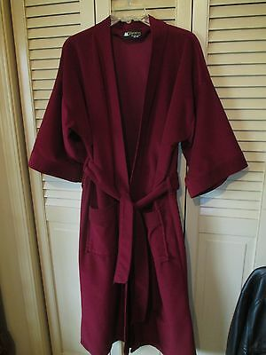 MEN'S VINTAGE VISCOUNT Maroon Soft Wrap ROBE ONE SIZE w/POCKETS 36-48 NICE USA