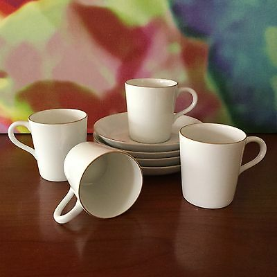 """Fukagawa For """"Tiffany & Co. / Eight Piece Demitasse Set / Four Cups & Saucers"""