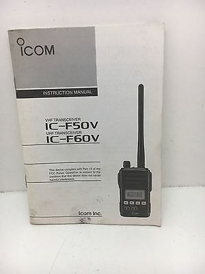 Globe Roamer Icom IC-F50V and IC-F60V Instruction Manual
