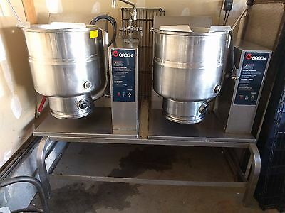 Double Groen TDH-40 Tilting Jacketed Steam Kettle Steamer Natural Gas 40 Quart