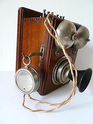 TELEPHONE PATENT MIX GENEST 1900  TELEFON BERLIN  Wall Phone