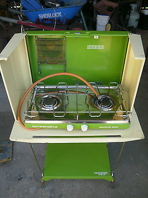 Camping 2 burner stove with Folding Table