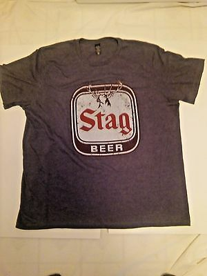 Stag Deer/Pabst T-Shirt Beer Sign ..Mens XX Large..New