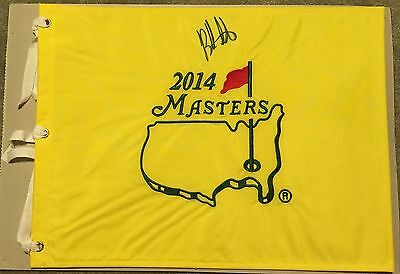 Bubba Watson Signed 2014 Masters Official Golf Pin Flag Augusta National Coa