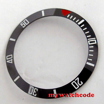 38mm black ceramic bezel insert for 40mm SUB watch made by parnis factory 27
