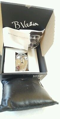 "Kosta Boda Art Glass Head Thoughts ""Live"" by Bertil Vallien Signed & Numbered"