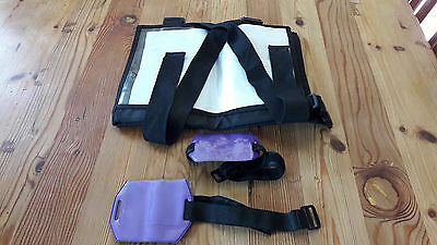 Brand New Black Number Bib for eventing and 2 medical armband holders