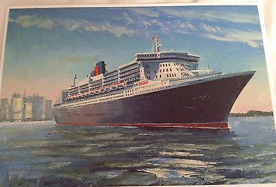Cunard QM2 Queen Mary 2 Greetings Card Blank For Your Own Message
