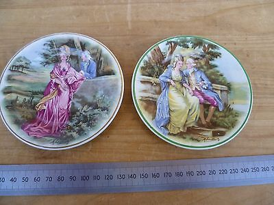 Vintage Old Small Size Decorative Plates Lot 'x2' (D669)
